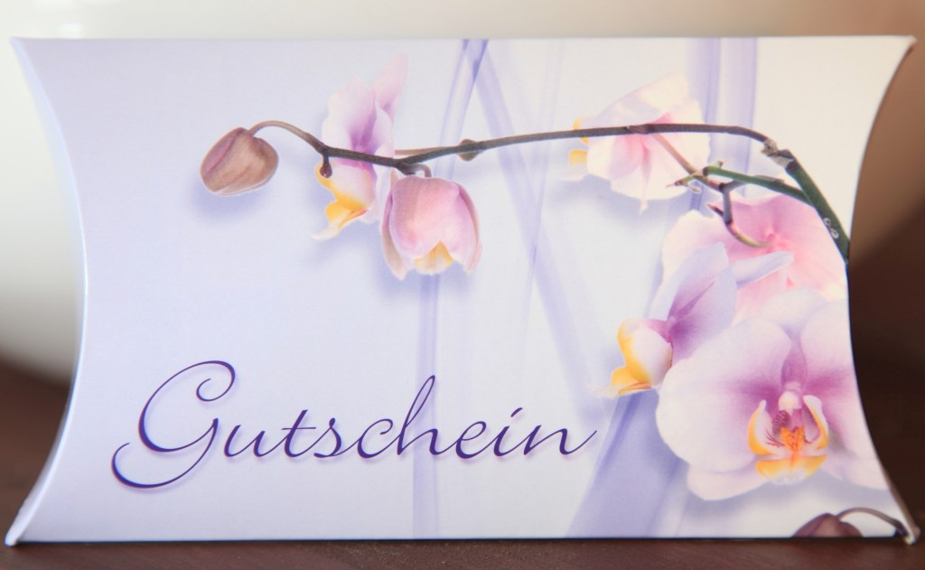 Gutschein für Physiotherapie Ayumed, Motiv Orchidee